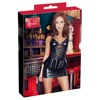 Wetlook Dress with Peplum