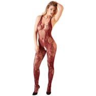 Catsuit ouvert in Rot/Schwarz