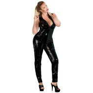 Vinyl Jumpsuit with Zip