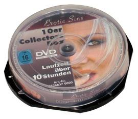 """DVD-Set """"Erotic Sins"""", 10er-Spindel, 600 Minuten Laufzeit"""