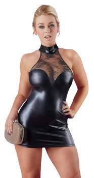 minikleid-aus-wetlook-mit-spitzeneinsatz