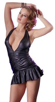 minikleid-mit-neckholder-und-raffungen-tiefer-v-ausschnitt