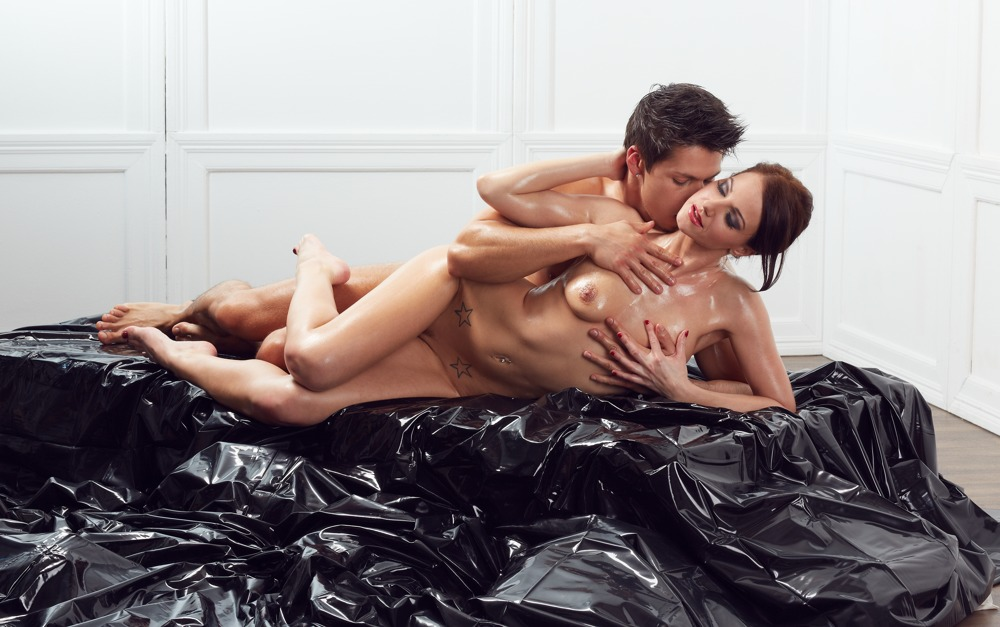 "Bettlaken ""Orgy-Laken´´ aus Lack, 200 x 230 cm"