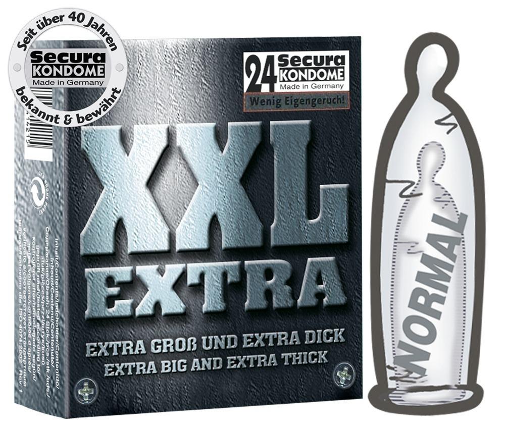 "Kondome ""XXL Extra´´, extra groß und extra dick"