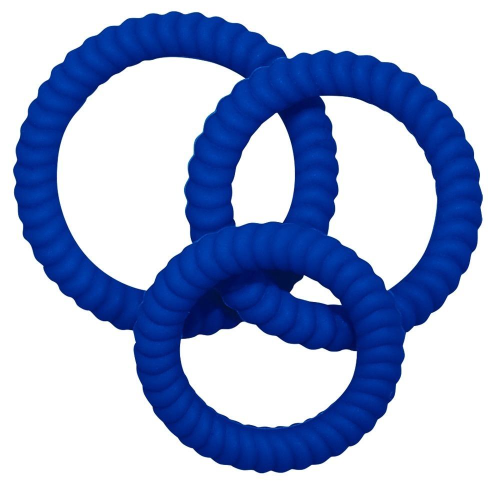 3-teiliges Penisringset (blau) online kaufen bei orion.de