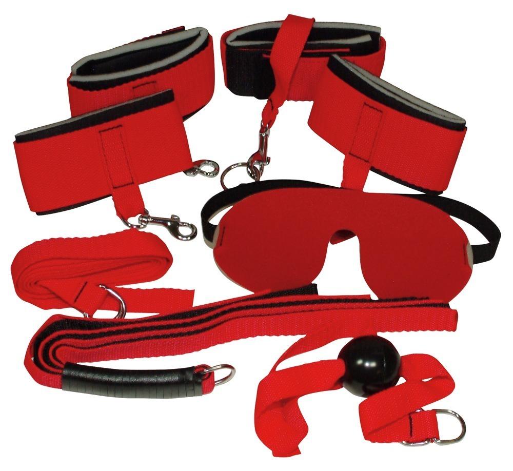 4 teiliges fesselset bondage set rot online kaufen bei. Black Bedroom Furniture Sets. Home Design Ideas