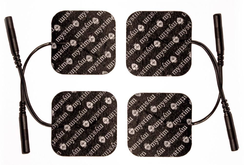 Elektroden, 4 Stück, passend für alle Geräte mit einem 2mm Stecker