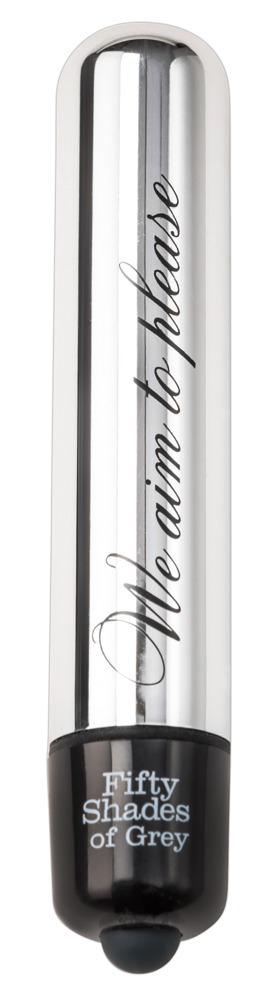 """Minivibrator """"We Aim to Please´´, 8,5 cm, aus 50 Shades of Grey, wasserdicht"""