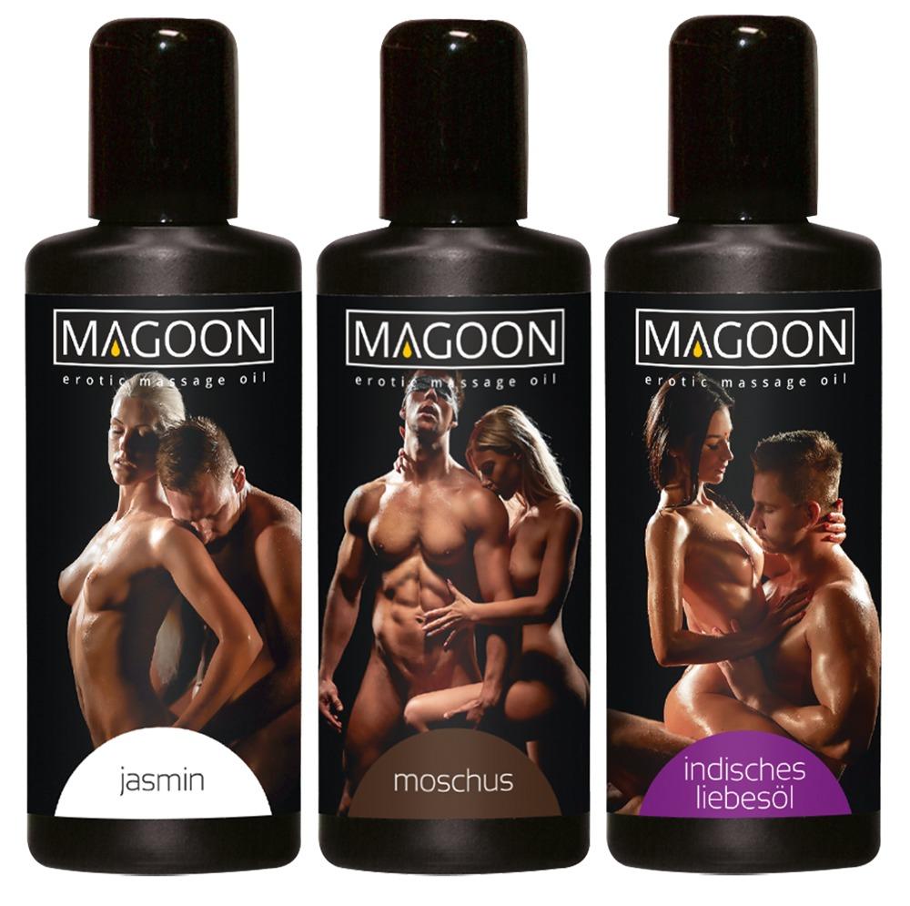 """Massageöl """"Magoon, diverse Aromen"""