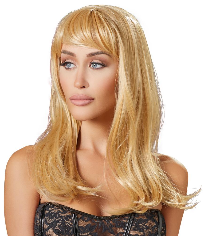 Perücke, blond, lang