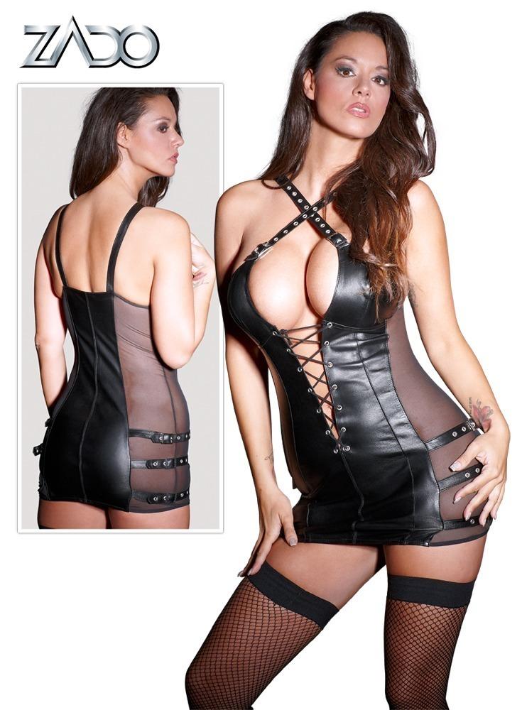 Minikleid Leder