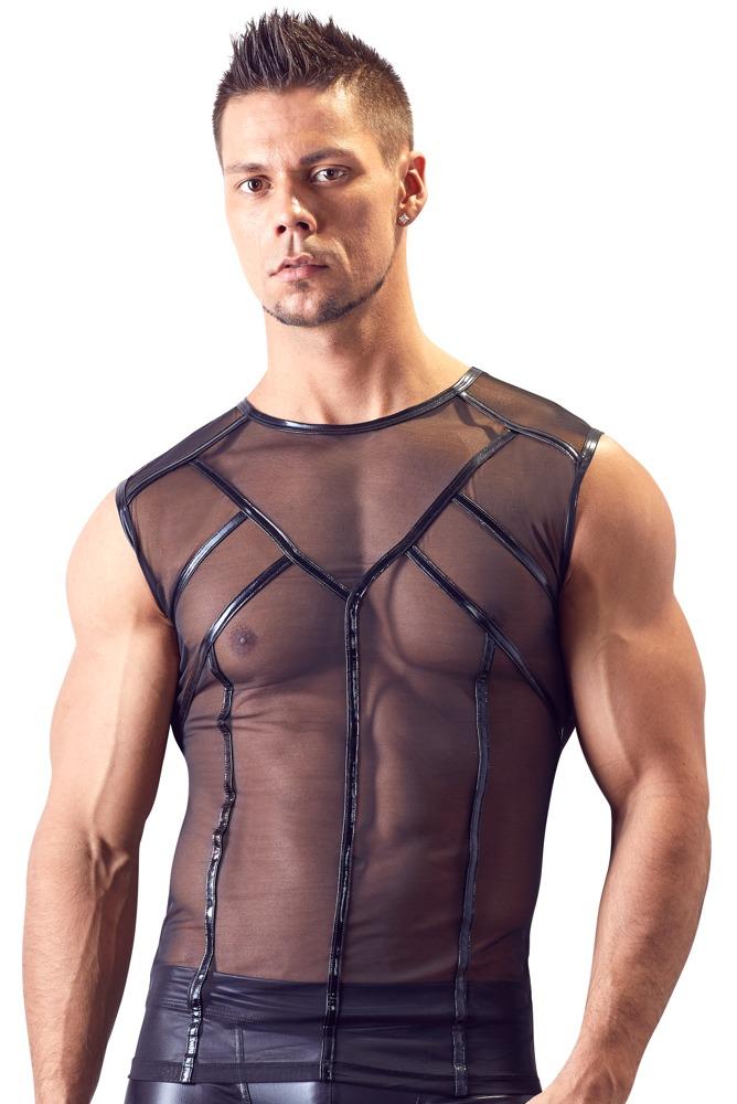 Shirt aus transparentem Powernet bei Orion - Erotikshop