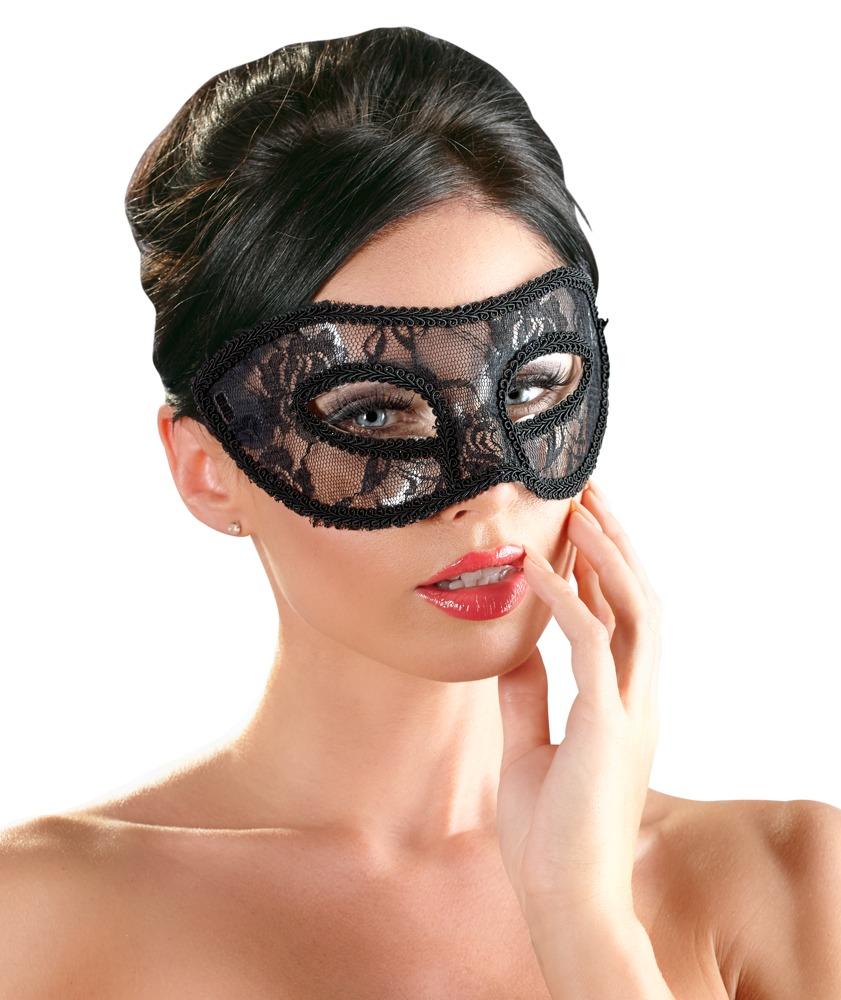 Augenmaske mit Spitze überzogen