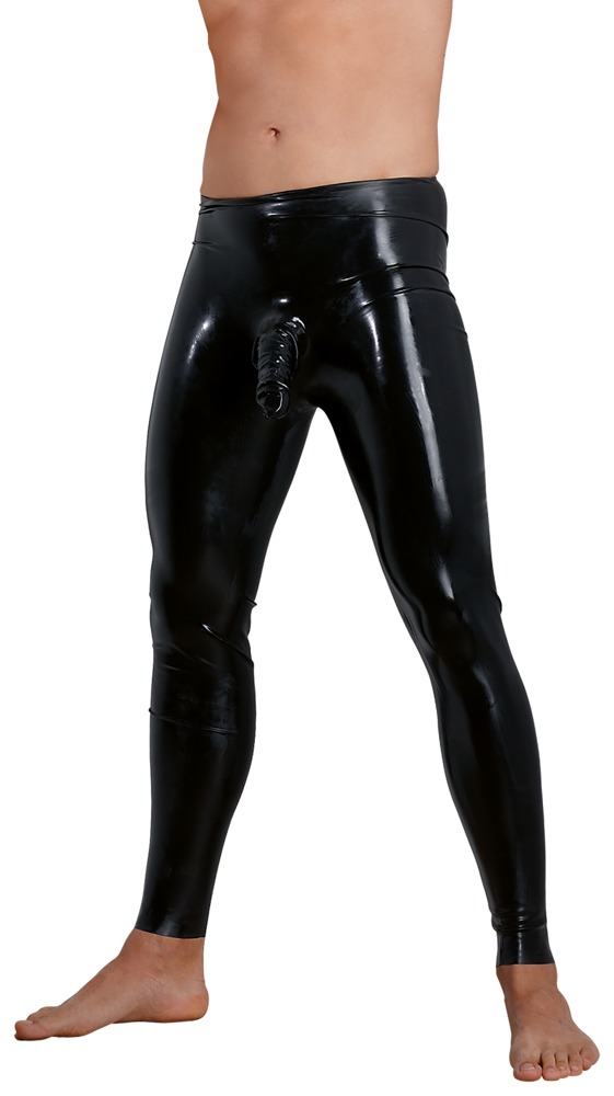 Hose aus Latex, mit anatomisch geformter Penis-Hoden-Hülle