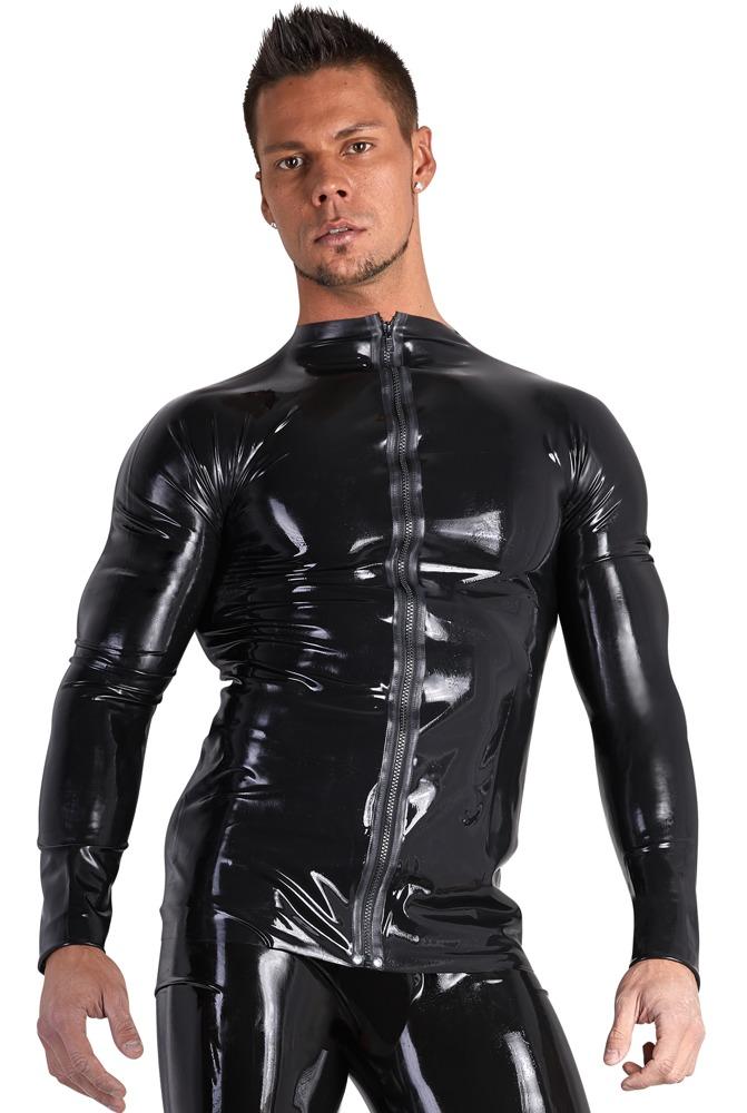 Shirt aus Latex mit Front-Zip bei Orion - Erotikshop