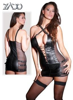 minikleid-leder