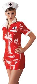minikleid-plus-haube-aus-lack-im-krankenschwester-look