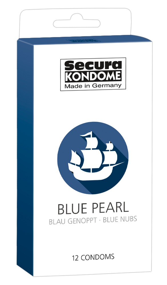 "Kondome ""Black Pearl´´, mit Noppen"