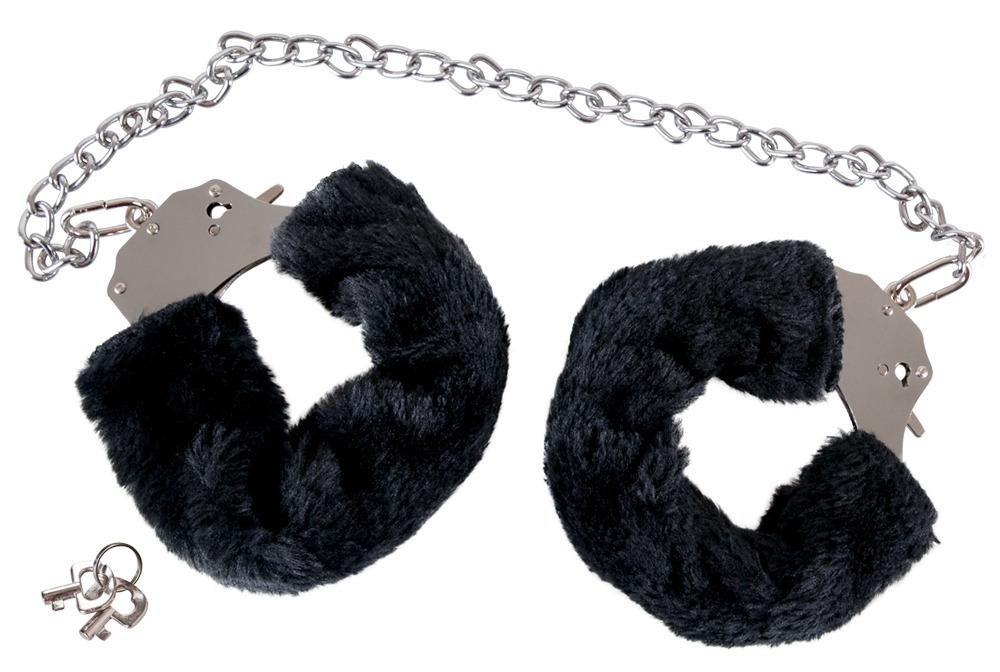 """Handschellen """"Bigger Furry´´ mit Plüsch und lan..."""