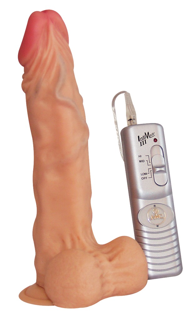 """Naturvibrator """"Authentic Reaction Dong´´, 22 cm, mit Fernbedienung und Saugfuß"""