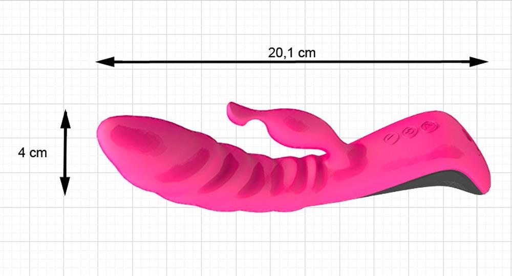 CNEX Vibrator ´´Trigger´´ mit Klitorisreizarm, 16 Vibrationsrhythmen