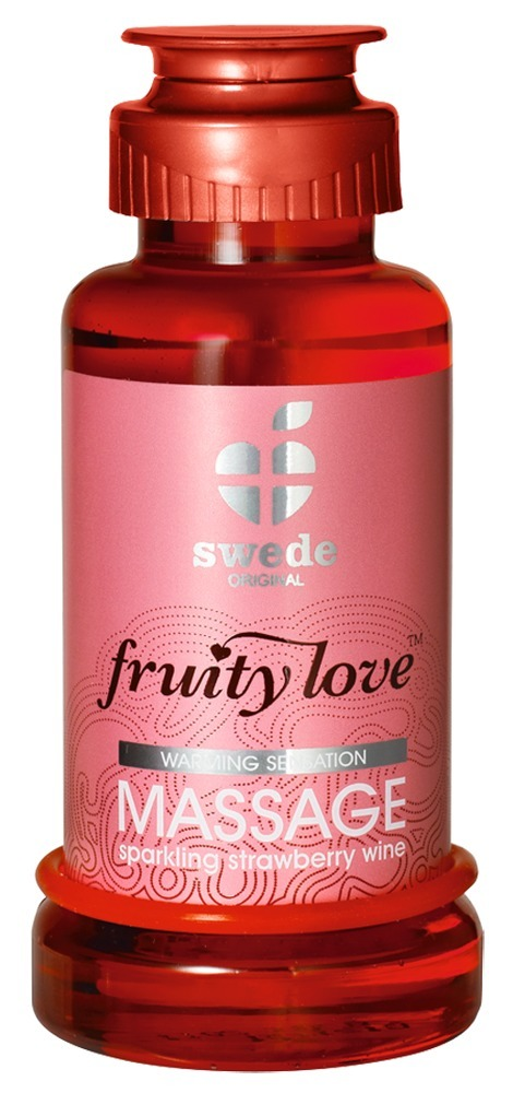 "Swede Massageöl ""fruity love´´ mit Erdbeer/Sekt-Aroma"